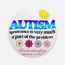 autism ignorance designer Round Ornament