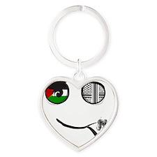 Palestinian smoking Pipe Heart Keychain