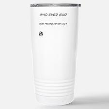Blue Russian Cat design Travel Mug