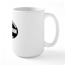 Libertarian Oval BW Mug