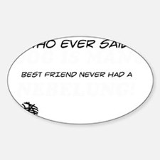 Nebelung Cat Designs Sticker (Oval)
