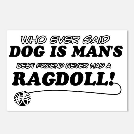 Ragdoll Cat Designs Postcards (Package of 8)