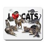 """Mousepad """"I Love Cats"""""""