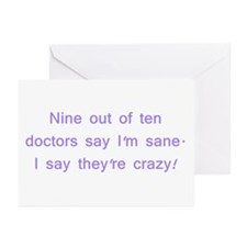Crazy Greeting Cards (Pk of 10)