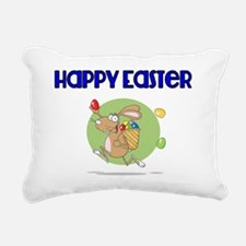 Happy Easter with Easter Rectangular Canvas Pillow
