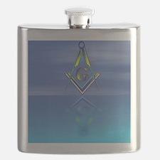 Masonic Seascape Flask
