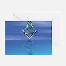 Masonic Seascape Greeting Card