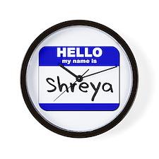 hello my name is shreya  Wall Clock