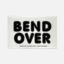CATHOLIC CONFESSION - BEND OVER - Rectangle Magnet