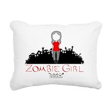 Zombie Girl Design Rectangular Canvas Pillow