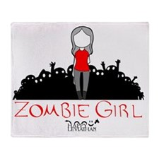 Zombie Girl Design Throw Blanket
