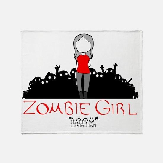 Zombie Girl Design Throw Blanket