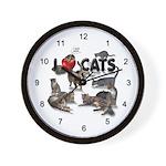 """Wall Clock """"I Love Cats"""""""