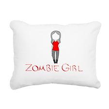 Zombie Girl Design Inver Rectangular Canvas Pillow
