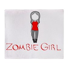 Zombie Girl Design Inverted Throw Blanket