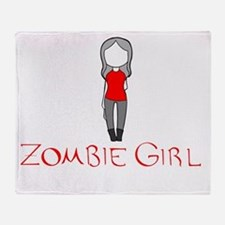 Zombie Girl Design Inverted Throw Blanket