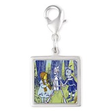 Vintage Wizard of Oz Silver Square Charm