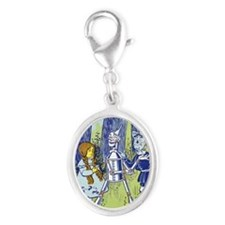 Vintage Wizard of Oz Silver Oval Charm