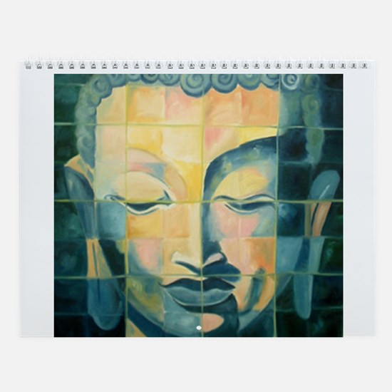 Tiled Buddha Wall Calendar
