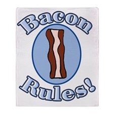 Bacon Rules Throw Blanket