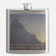 Inspiring Travel Quote T-Shirt (Greek Island Flask