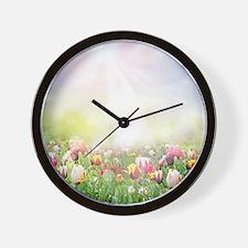 Spring Meadow Wall Clock