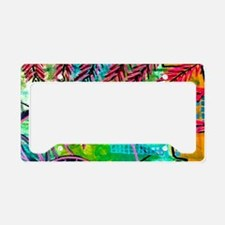 Sun Spots Colorful Abstract P License Plate Holder