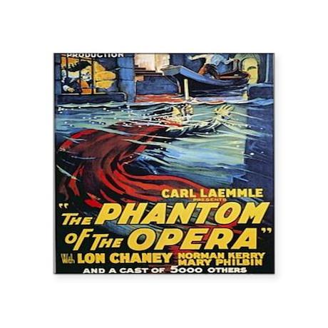 """the phantom of the opera Square Sticker 3"""" x 3"""""""