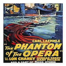 """the phantom of the opera Square Car Magnet 3"""" x 3"""""""