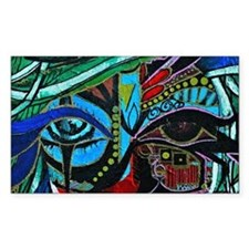 Warrior Vision Colorful Abstra Decal