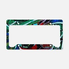 Warrior Vision Colorful Abstr License Plate Holder