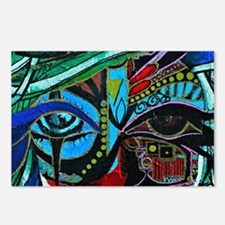 Warrior Vision Colorful A Postcards (Package of 8)