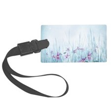 Winter Violets Luggage Tag