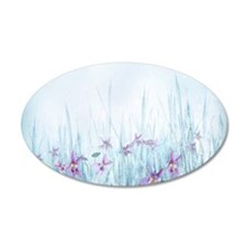 Winter Violets Wall Decal