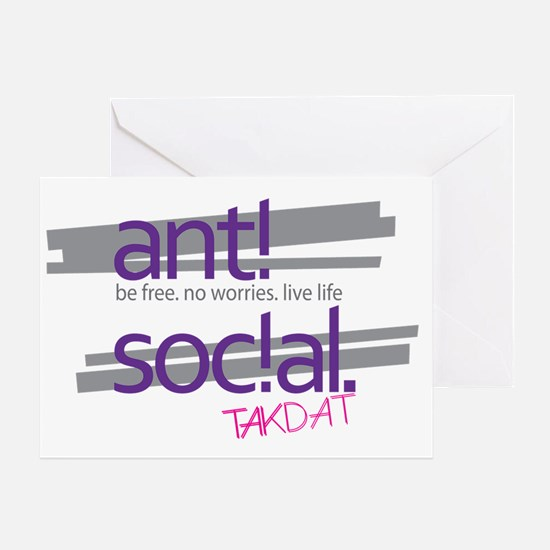 TAKDAY anti social Greeting Card