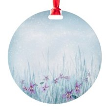 Winter Violets Ornament