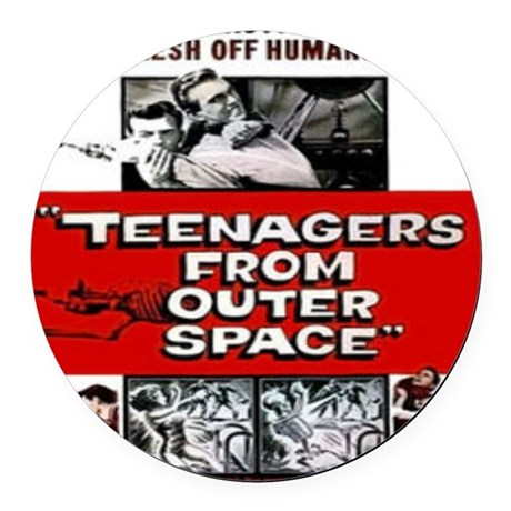 teenagers from outer space Round Car Magnet