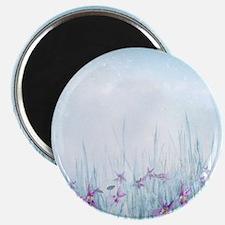 Winter Violets Magnet