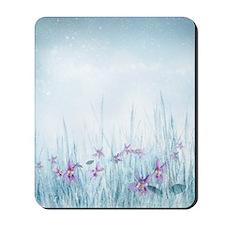 Winter Violets Mousepad