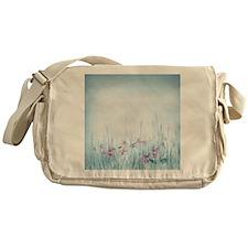 Winter Violets Messenger Bag
