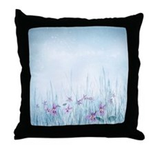 Winter Violets Throw Pillow