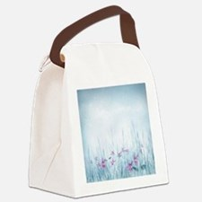 Winter Violets Canvas Lunch Bag