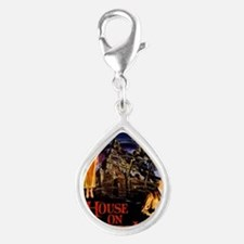 house on haunted hill Silver Teardrop Charm