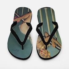 Classic Elvgren 1950s Vintage Pin Up Gi Flip Flops