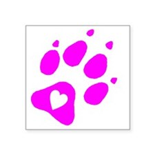 "pink paw print for pants wi Square Sticker 3"" x 3"""