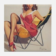 Classic Elvgren 1950s Vintage Pin Up  Tile Coaster