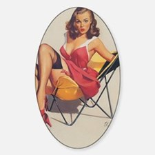 Classic Elvgren 1950s Vintage Pin U Decal