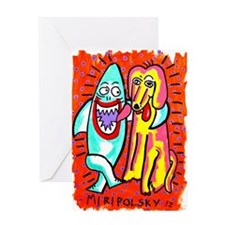 Sharks in the City: Pals Greeting Card