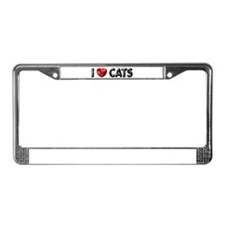 "License Plate Frame ""I Love Cats"""