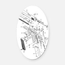 1911 Diagram Oval Car Magnet